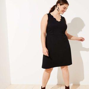 🆕 Loft Plus Black Scallop Sheath Dress